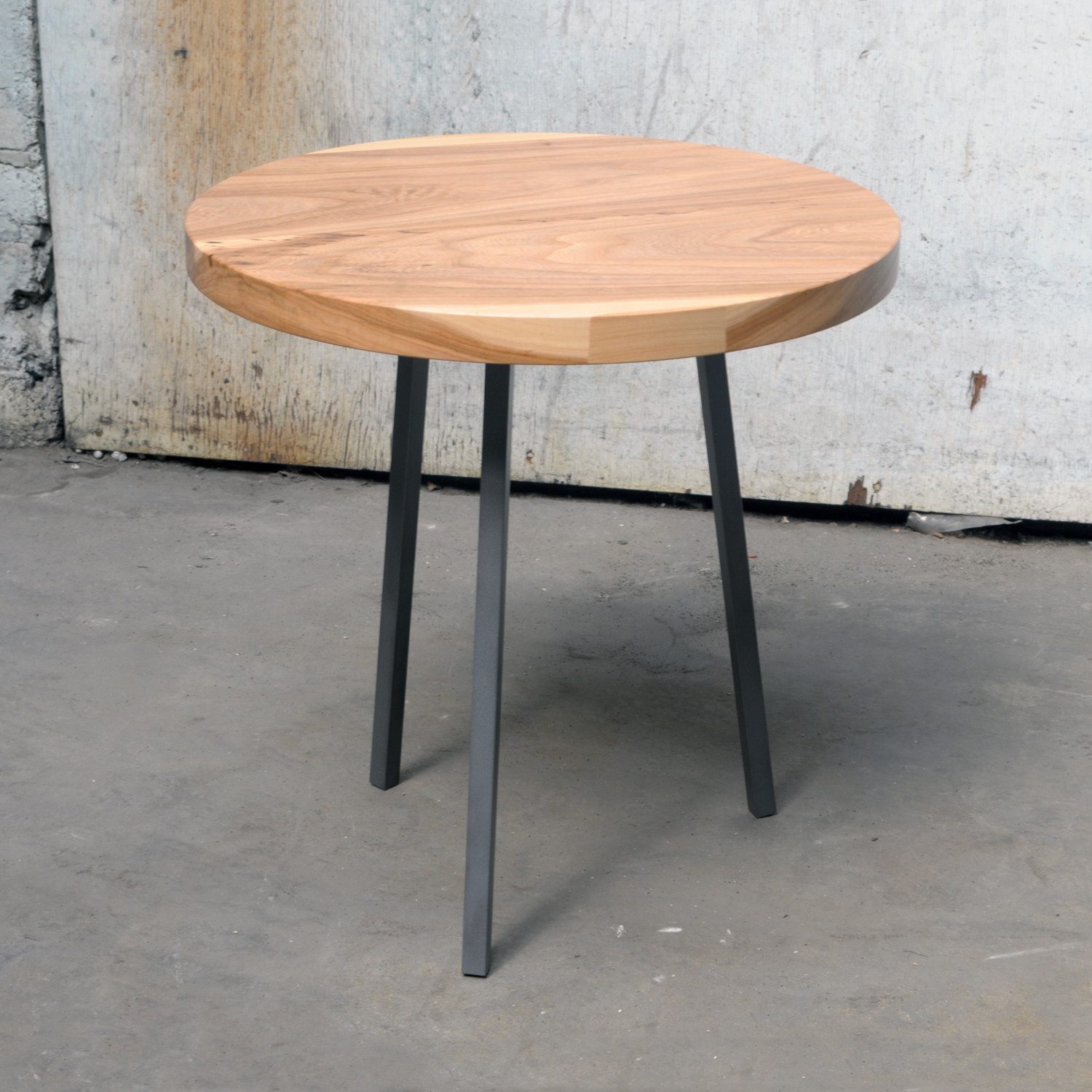 Charming Little Round Table (Walnut Top + White Legs)