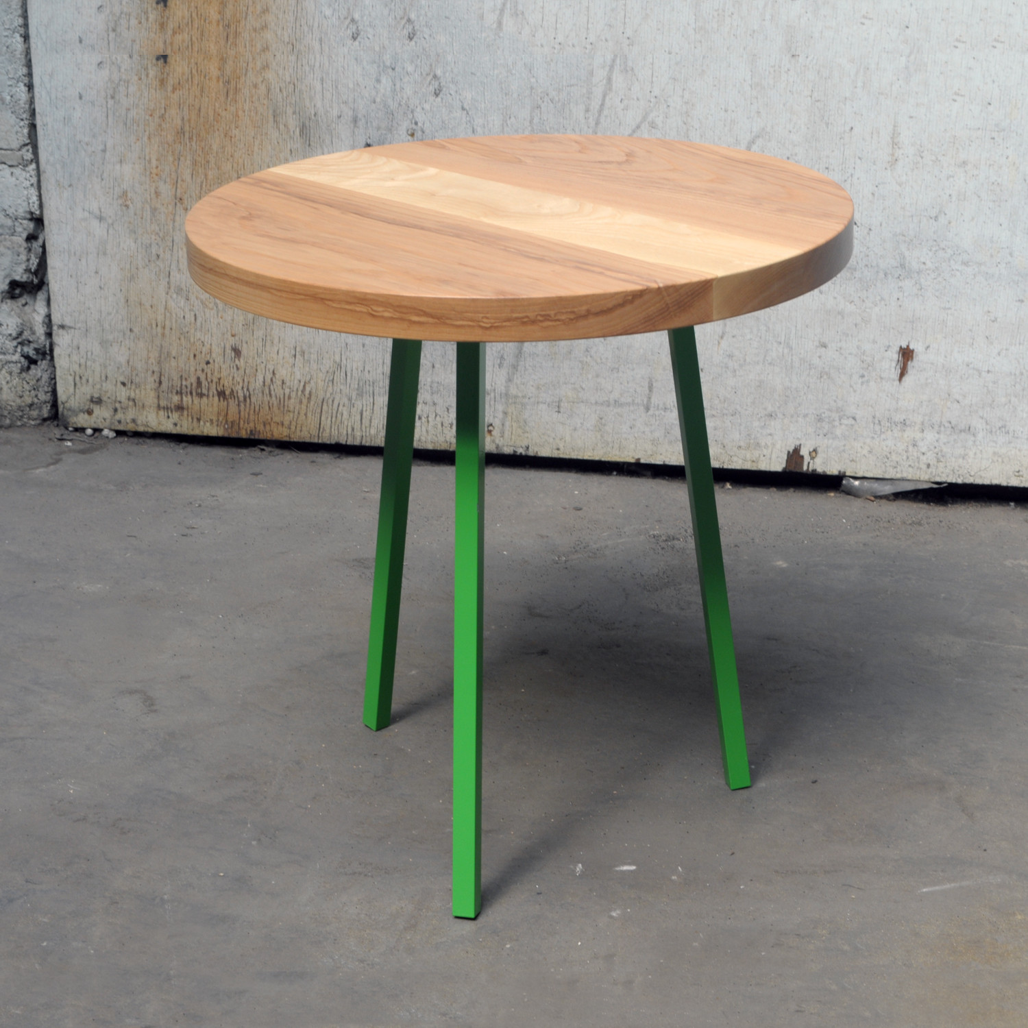 Superior Little Round Table (Walnut Top + White Legs)