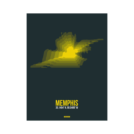 Memphis Radiant Map (Yellow, Black)