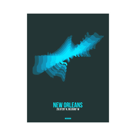 New Orleans Radiant Map (Blue, Black)
