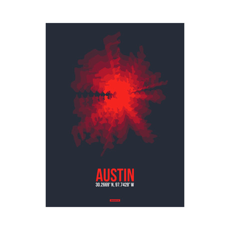 Austin Radiant Map (Red, Black)