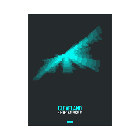 Cleveland Radiant Map (Blue, Black)