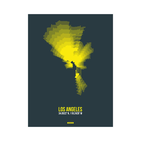 Los Angeles Radiant Map (Yellow, Black)