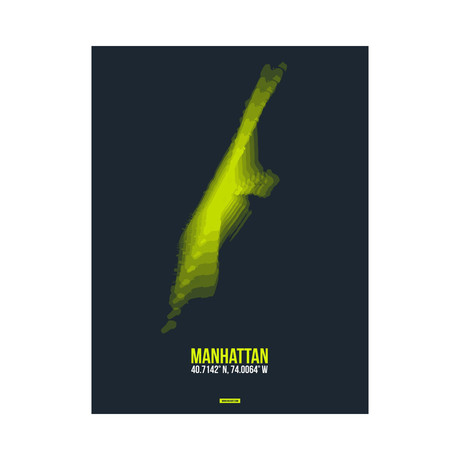 Manhattan Radiant Map (Green, Black)