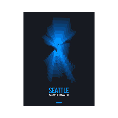 Seattle Radiant Map (Blue, Black)