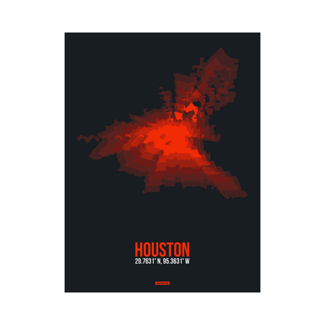 Houston Radiant Map (Red, Black)