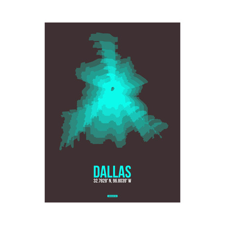 Dallas Radiant Map (Yellow, Black)