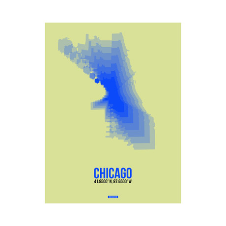 Chicago Radiant Map (Blue, Yellow)