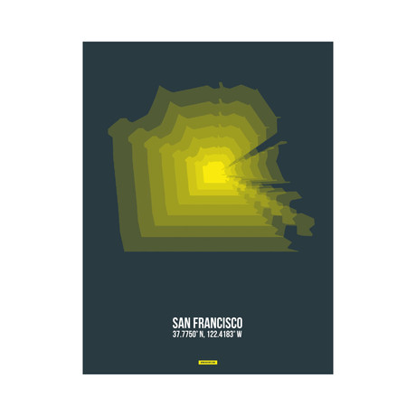 San Francisco Radiant Map (Yellow, Black)