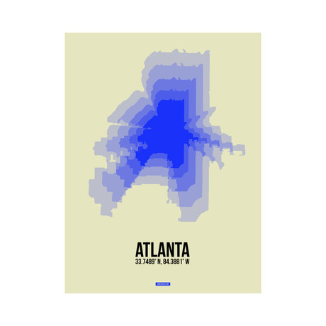 Atlanta Radiant Map (Blue, Yellow)
