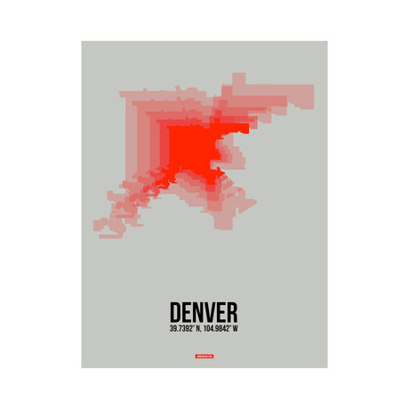 Denver Radiant Map (Red, Grey)