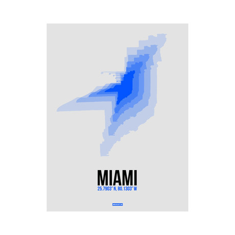Miami Radiant Map (Blue, White)