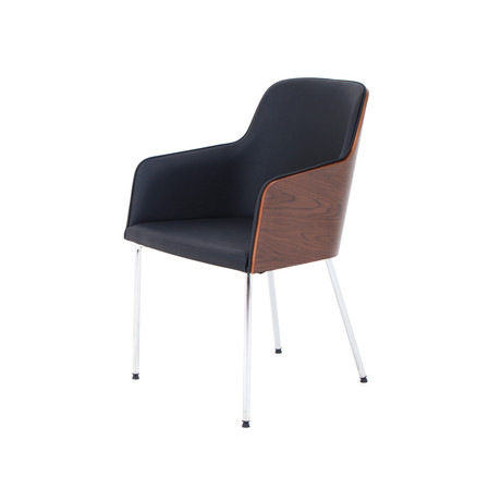 Hudson Chair // Walnut w/ Black Eco Leather