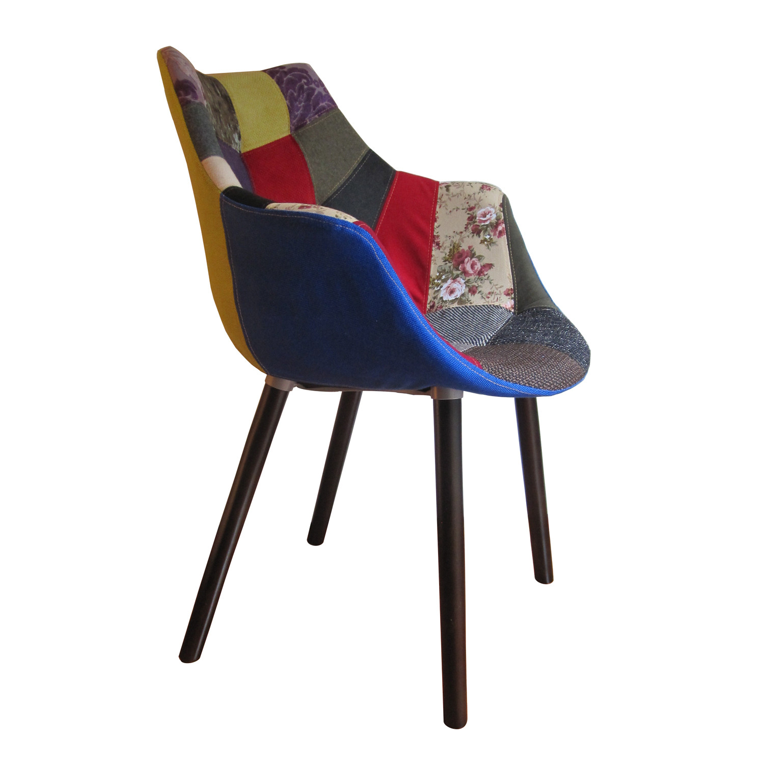 MC Patchwork Armchair (Natural Wood Legs) - Nuans - Touch ...
