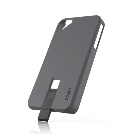 Hybrid USB Case for iPhone 4/4S // Grey & Black
