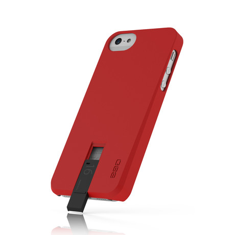 Hybrid USB Case for iPhone 5 // Red & Black