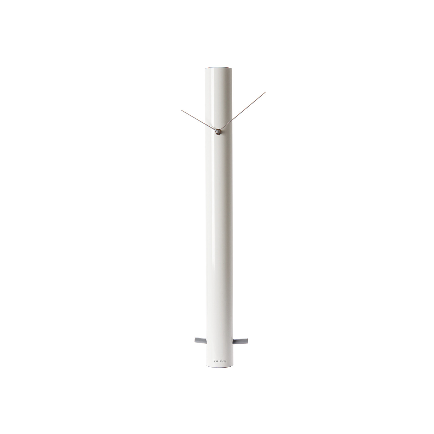 Pendulum tube wall clock white grey karlsson for Touch of modern clock