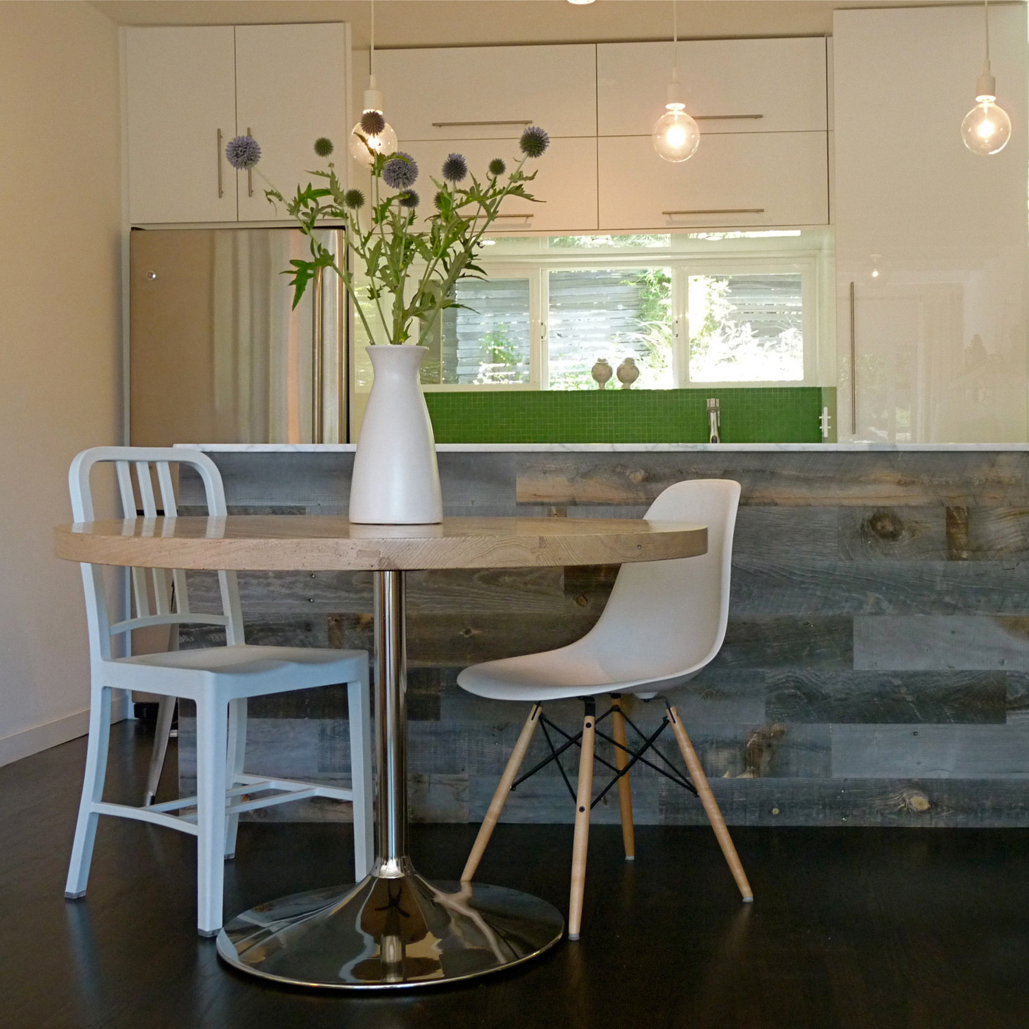 Inject Warmth Into Your Home With Reclaimed Wood Wall: Reclaimed Weathered Wood // Dark Grey