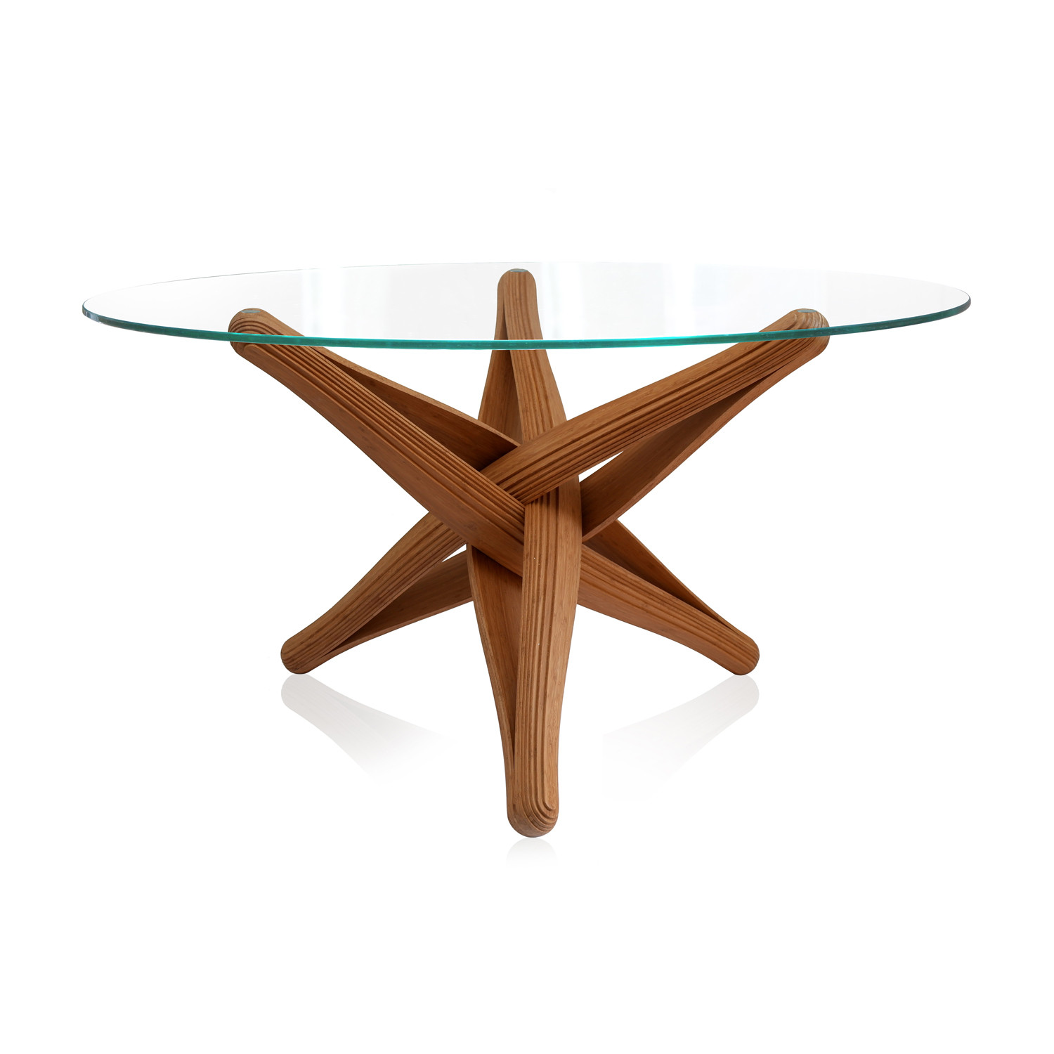 Lock Bamboo Dining Table Base ly Plankton Touch of Modern