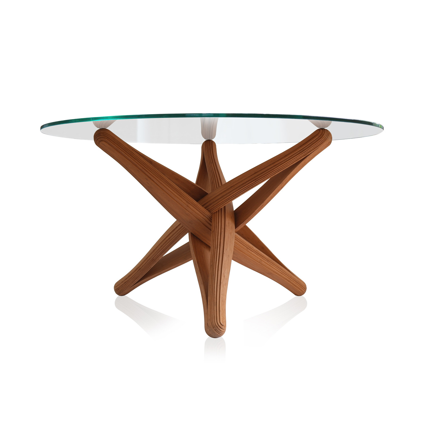 Lock bamboo dining table base only plankton touch for Dining table only
