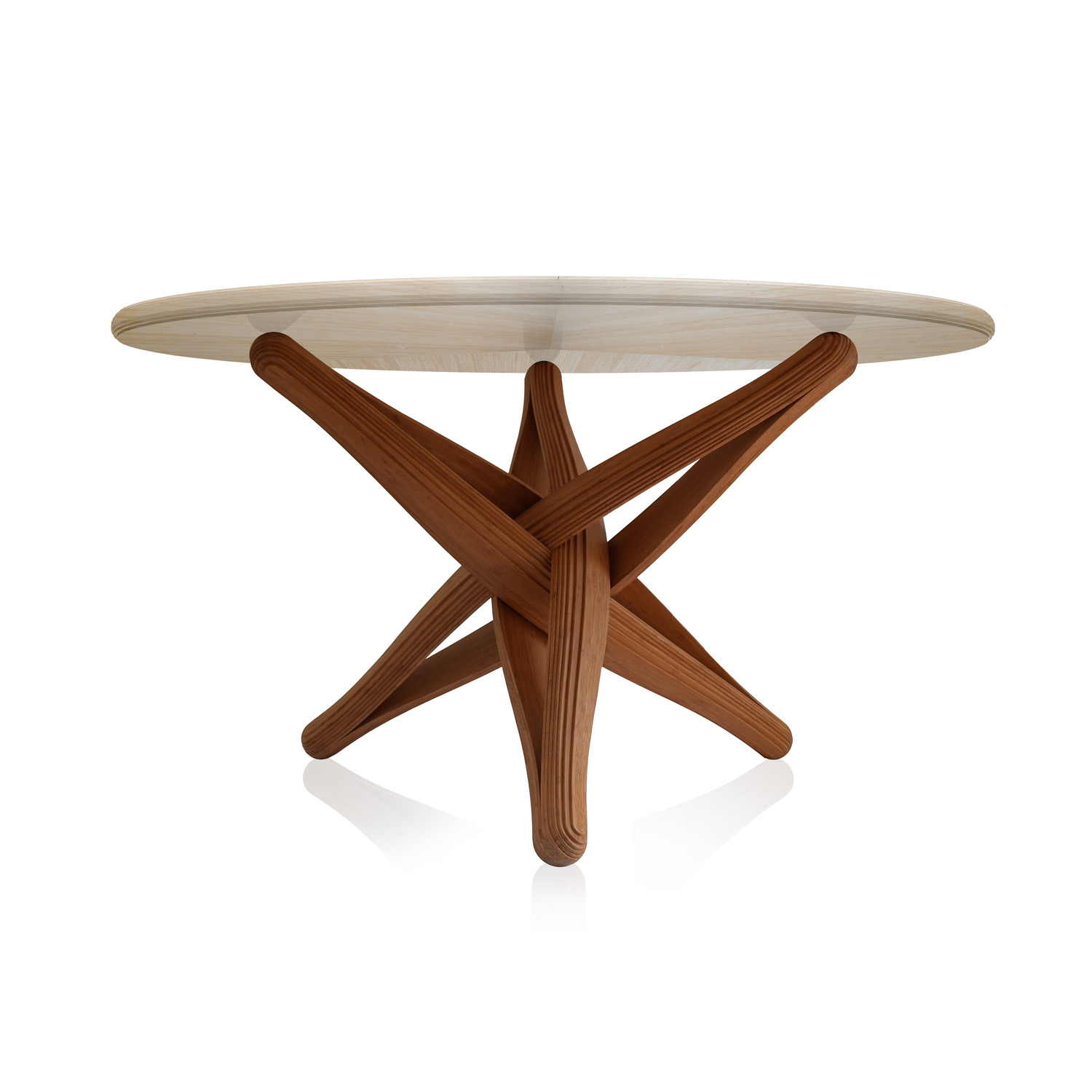 Lock Bamboo Dining Table Plankton Touch Of Modern