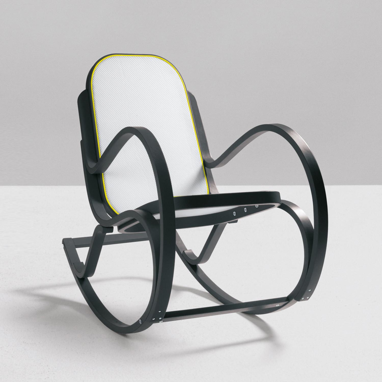 rock me wooden rocking chair grey seletti home furnishings