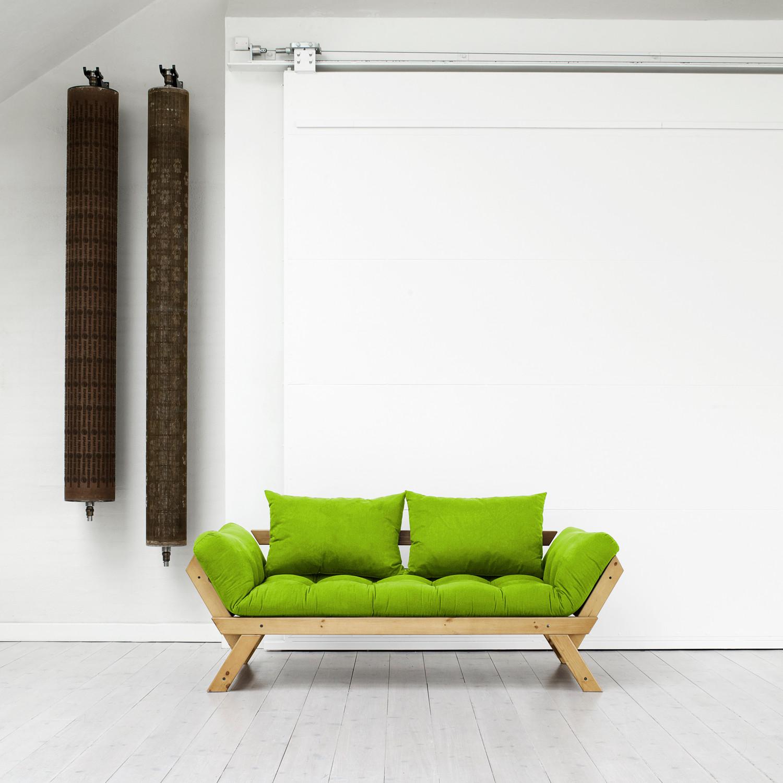 fresh futon bebop  natural frame (navy)  fresh futon  touch of  - fresh futon bebop  natural frame (navy)