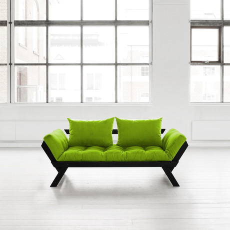 Fresh Futon Bebop Black Frame Lime
