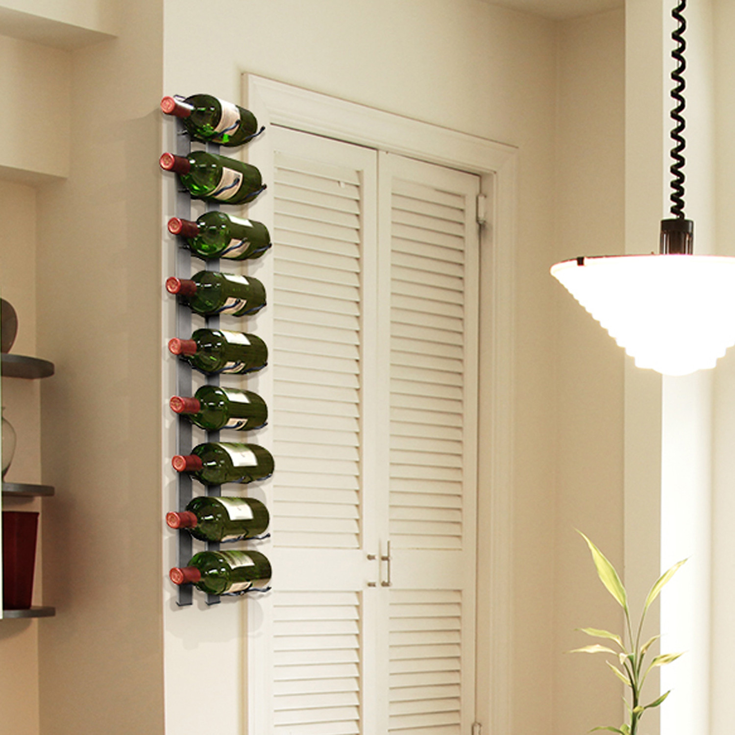 Wall Mounted Wine Rack 9 Bottles Epicureanist Touch Of Modern