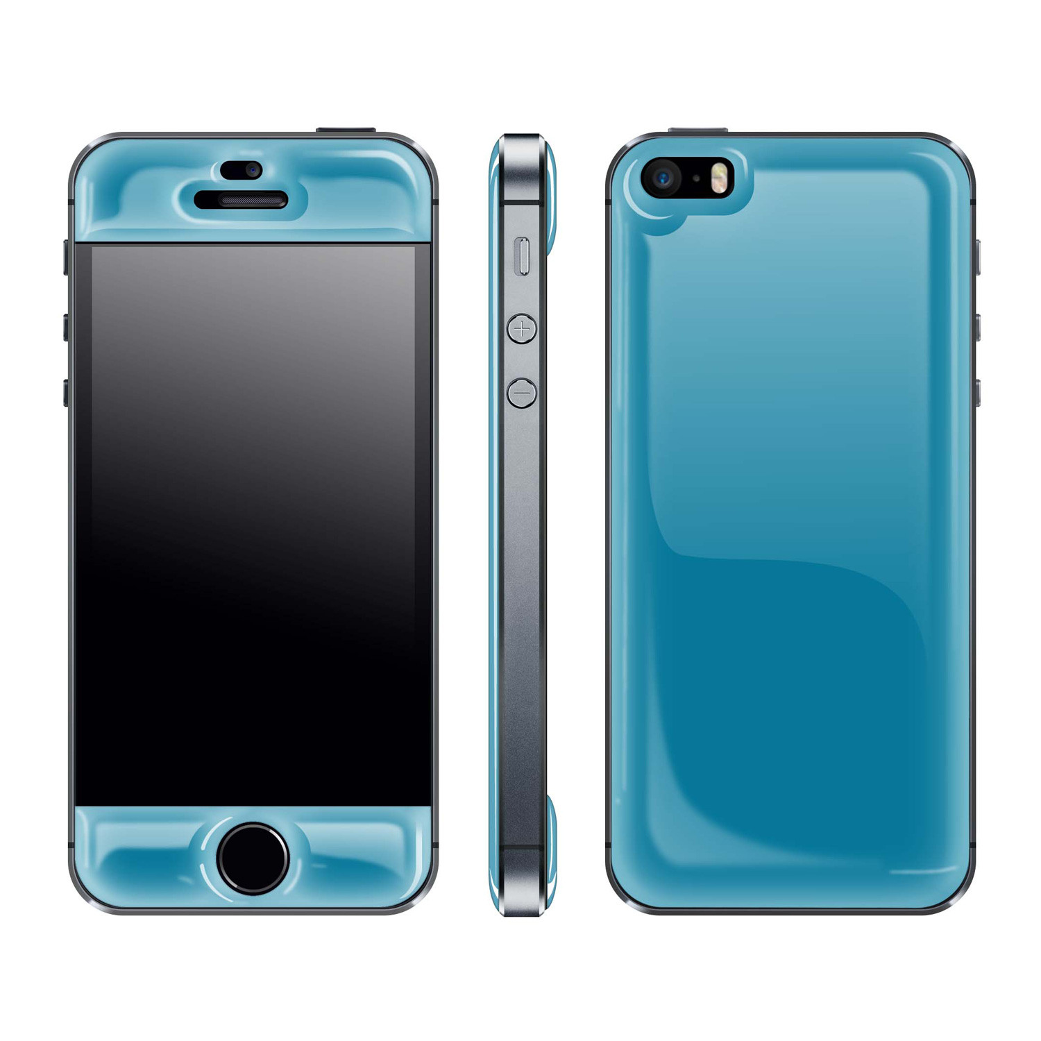 iphone 5s blue glow gel skin for iphone 5 5s electric blue 11170