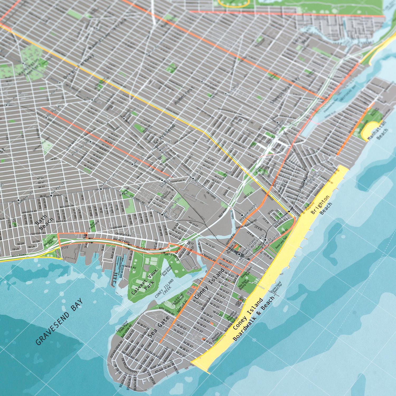 New York City Street Map Version Paper The Future Mapping - Map of new york city streets