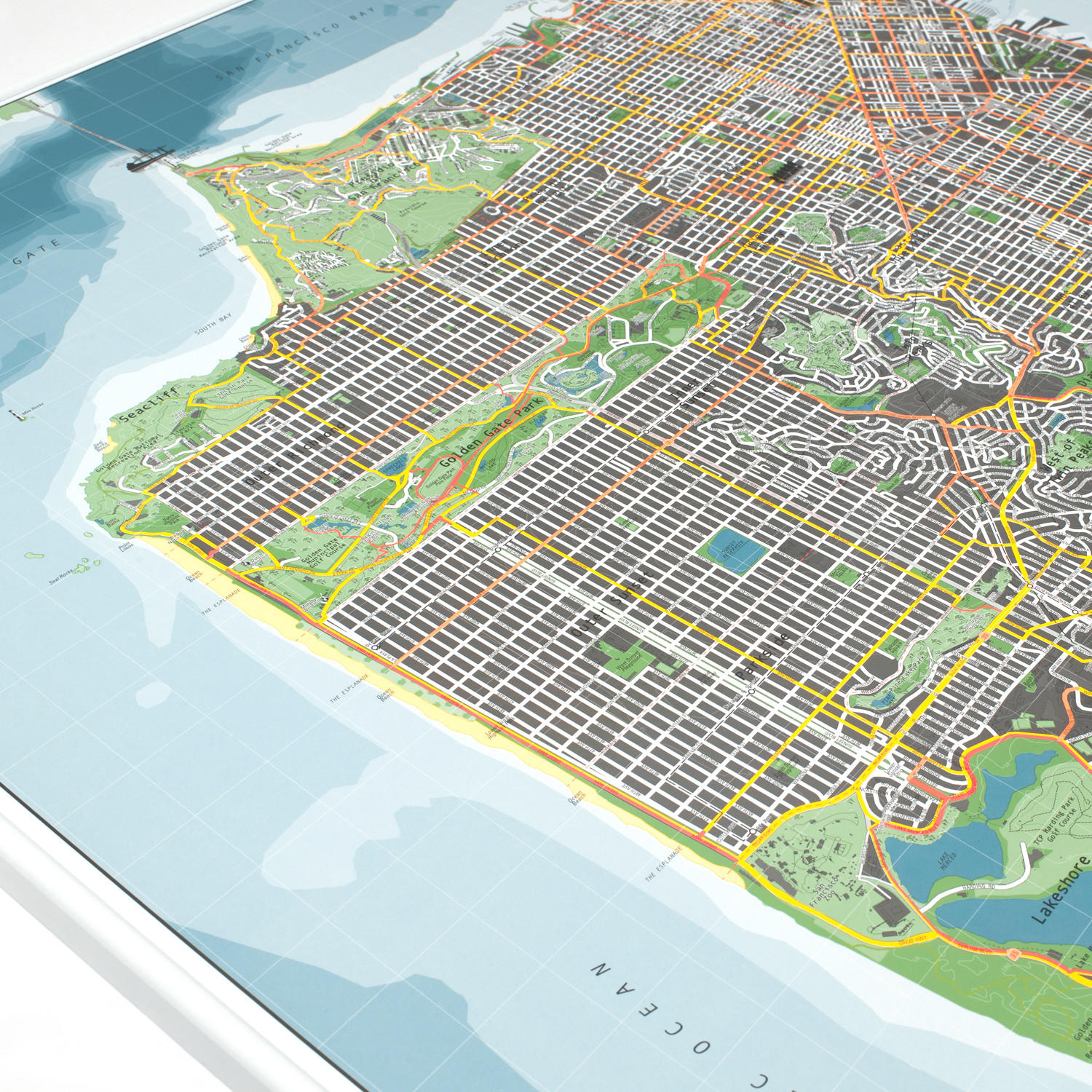 San Francisco Street Map Version 2 Paper The Future Mapping