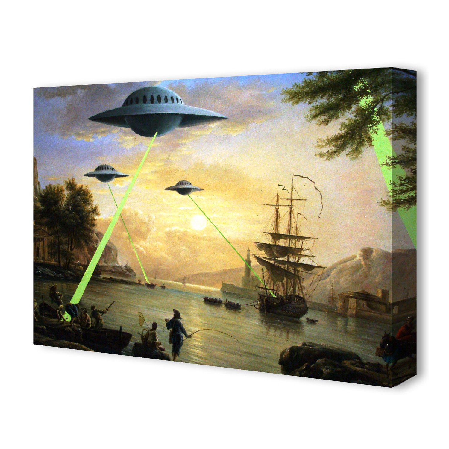 Flying Saucers Aliens by Banksy (26\