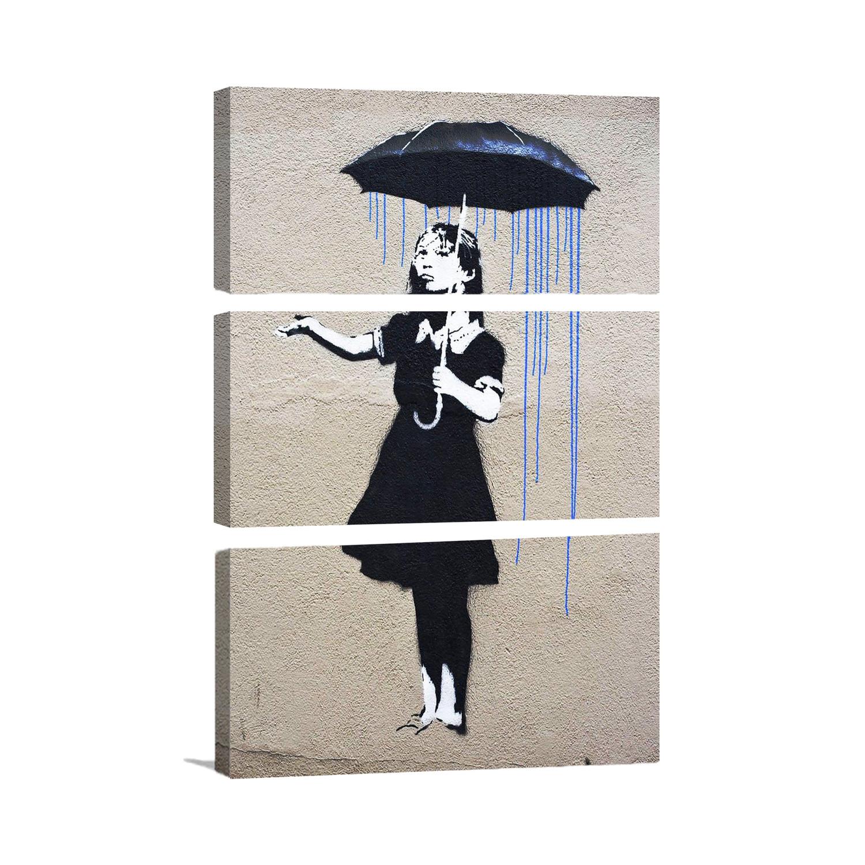 "Umbrella Stand Homebase: Nola Girl With The Umbrella By Banksy (26"" X 18"")"