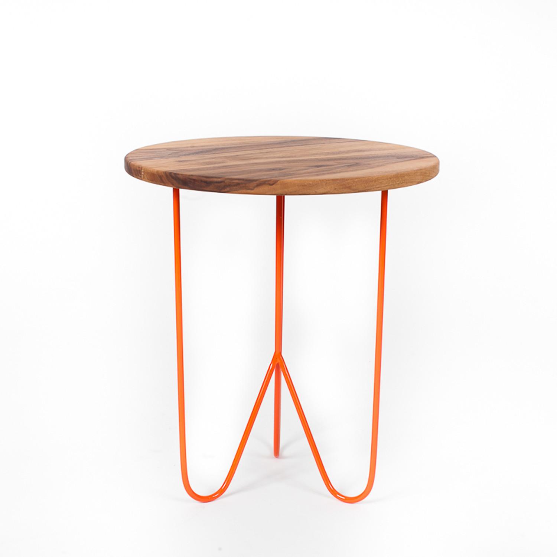 Black walnut side table orange sean woolsey art for Walnut side table