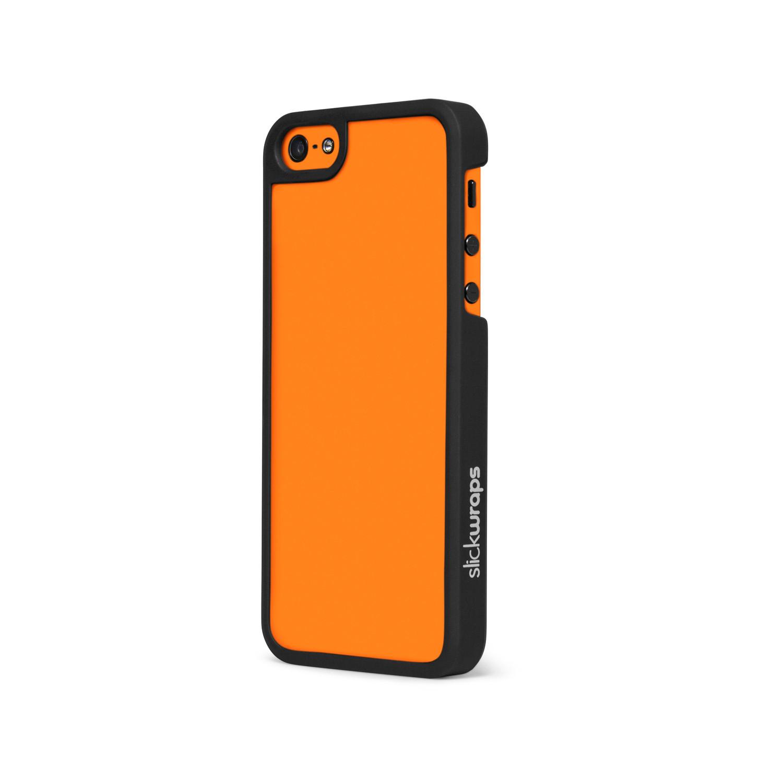 glow hard case orange iphone 5 5s slickwraps glow. Black Bedroom Furniture Sets. Home Design Ideas