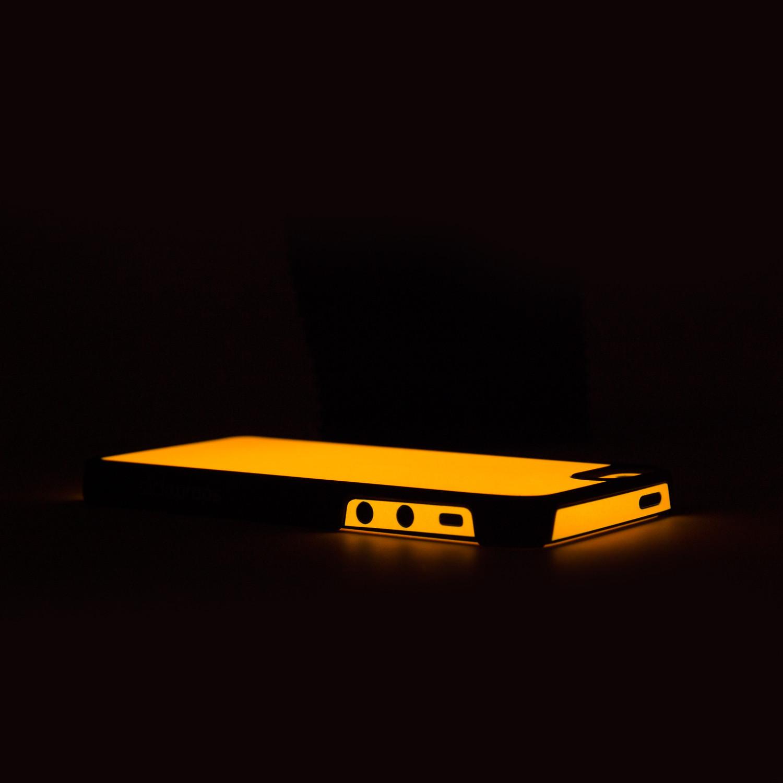 glow hard case orange iphone 5 5s iglow by. Black Bedroom Furniture Sets. Home Design Ideas