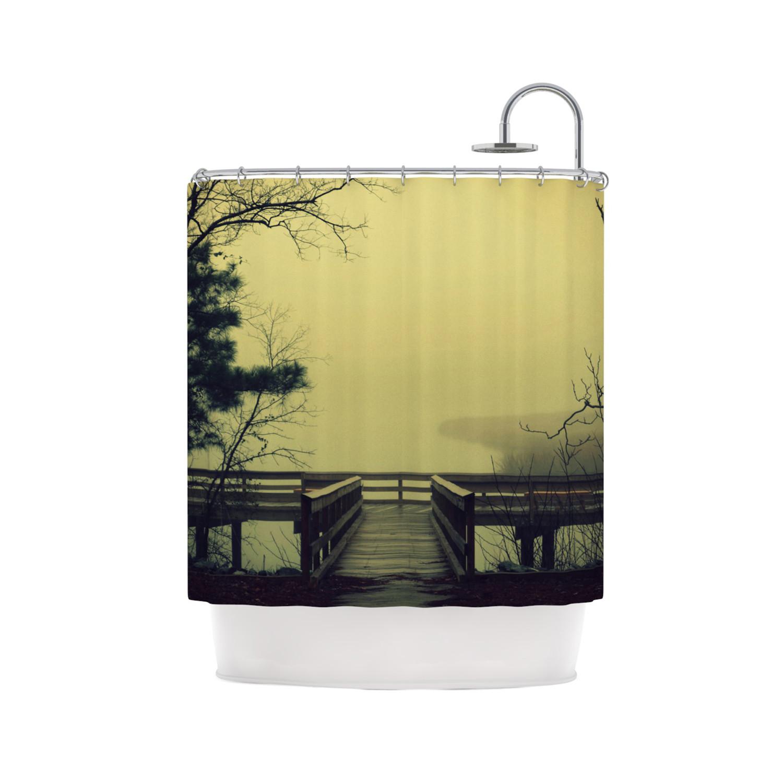 Robin Dickinson Fog On The River Shower Curtain