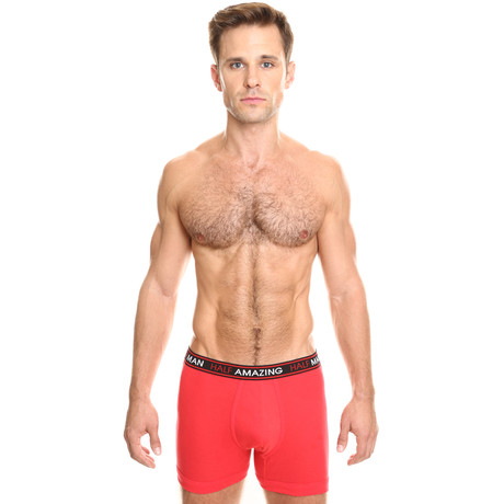 Long Boxer Brief // Red (S)