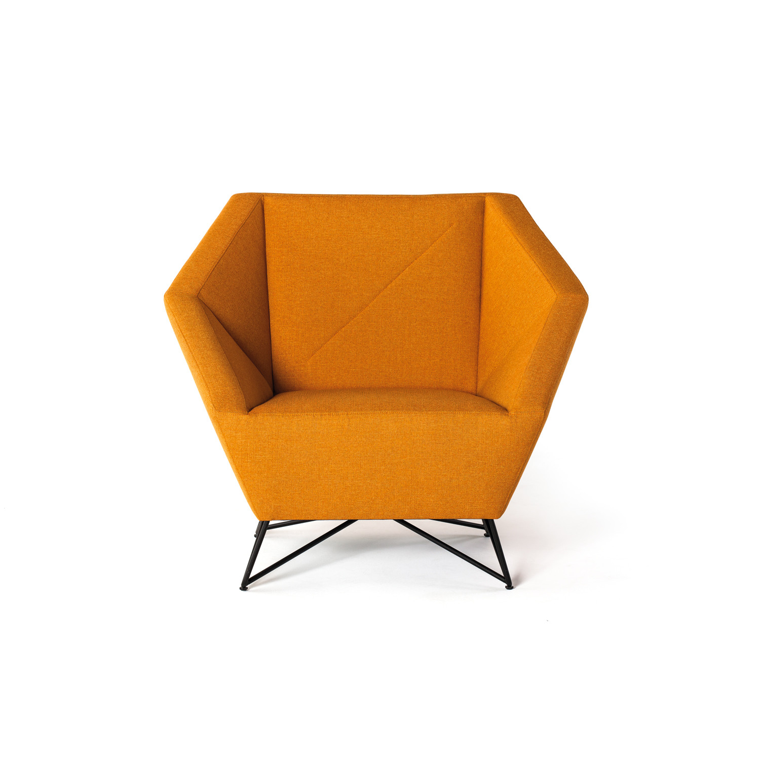 3 Angle Armchair // Orange