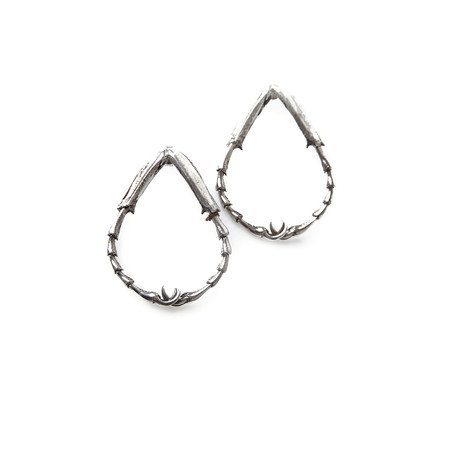 Insect Leg Earrings (Sterling Silver)