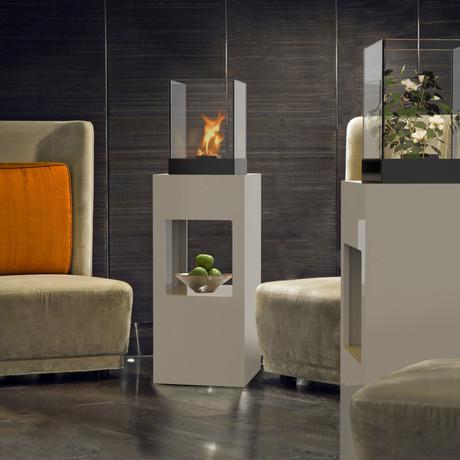 Vertikal Fire Pedestal  (Black Textured)