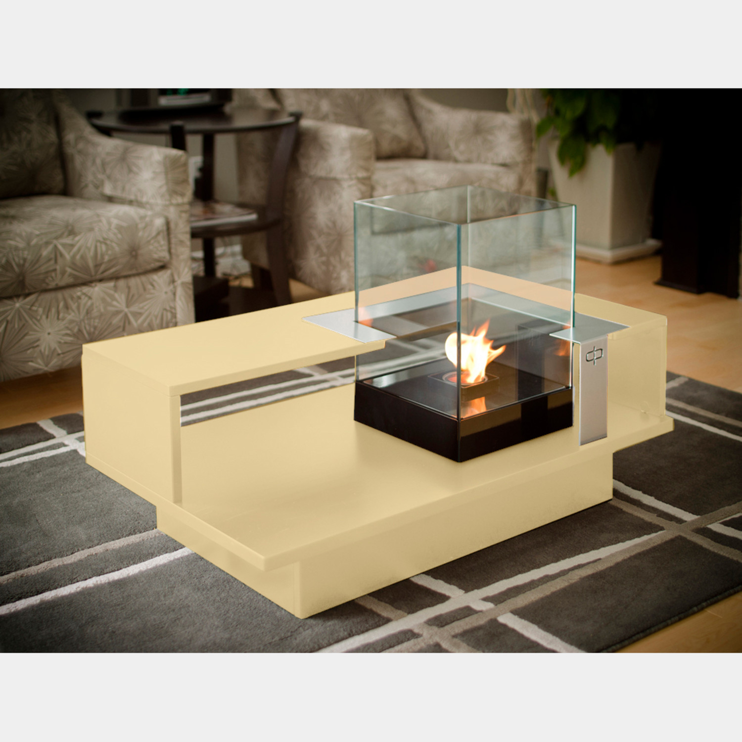 Level compact coffee table with fireburner black textured - Les plus belles tables basses ...