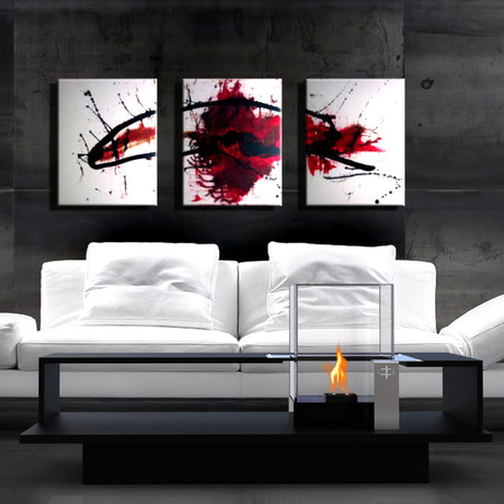 Level Coffee Table With Fireburner (Black Textured)