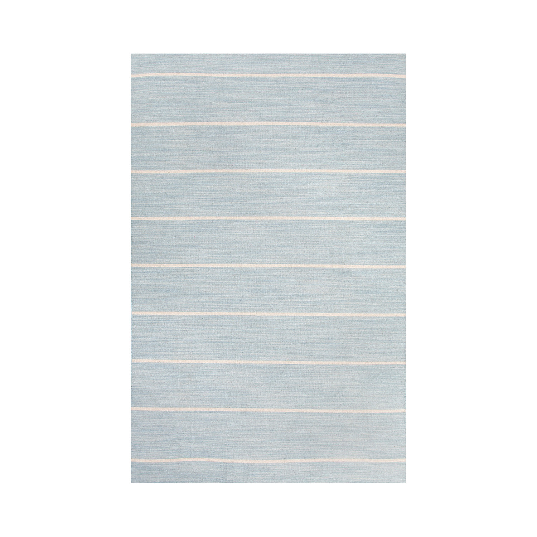 Flat Weave Wool Cape Cod Rug // Light Blue (4u0027 X 6