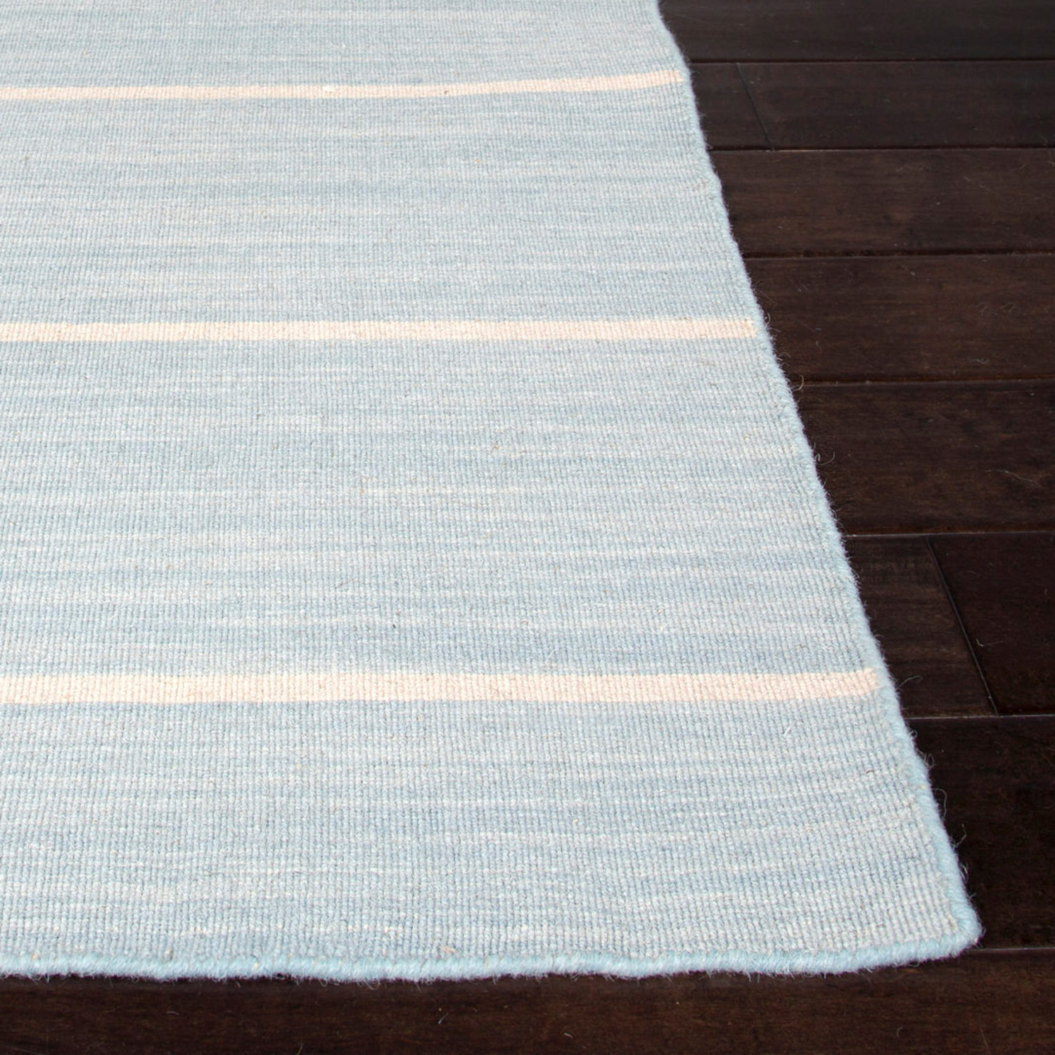 Flat Weave Wool Cape Cod Rug // Light Blue (4u0027 X 6