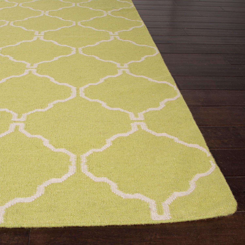 flat-weave wool delphine rug // yellow (8' x 10') - jaipur rugs