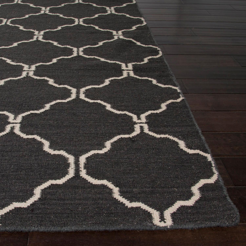 Flat Weave Wool Delphine Rug // Chocolate (5u0027 X .