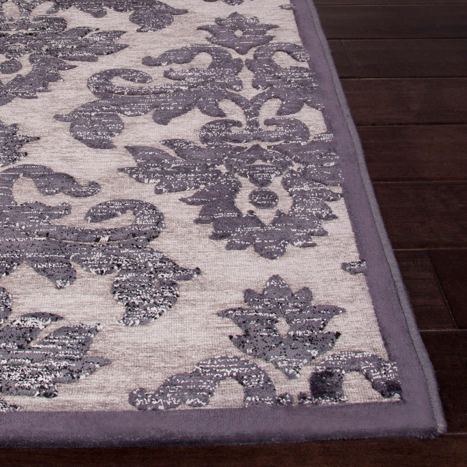 Fables area rug gray tan jaipur rugs touch of modern for Grey and tan rug