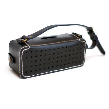 Leather Bluetooth Wireless Speaker // Black